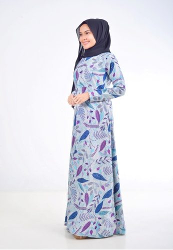 Assie Modesty blue and purple and multi Rhapsody A-Cut Dress 2C5EAAAC3B5506GS_1