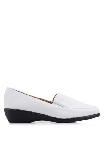 Noveni 白色 舒適懶人楔型鞋 D230DSH30740D3GS_1