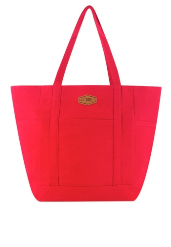 Ripples red Caylie CarryAll Tote Bag 6A373AC6B4563BGS_1