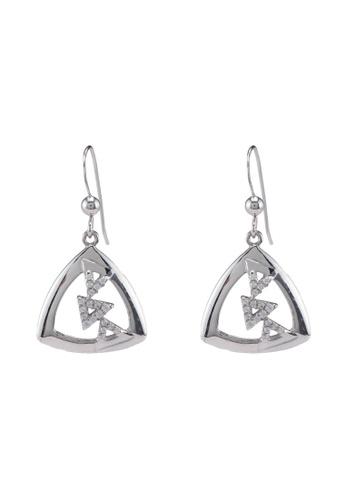 Carlton London white Semi-Soldered-C.Z. Earrings D1DF9AC36C7DF8GS_1