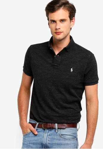 5d6bbba0 Polo Ralph Lauren black Knit Custom Fit Basic Mesh Polo Shirt  16005AA180608CGS_1