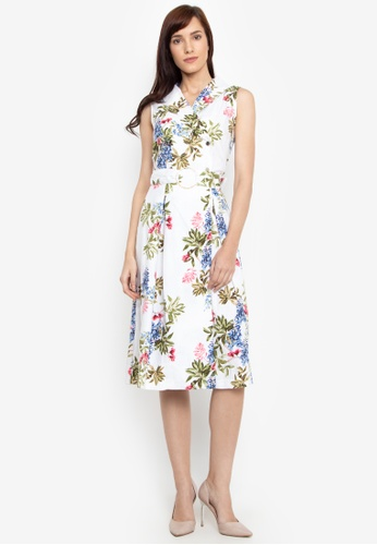 8ea1772a5a Shop Cortefiel Floral Dress With Belt Online on ZALORA Philippines