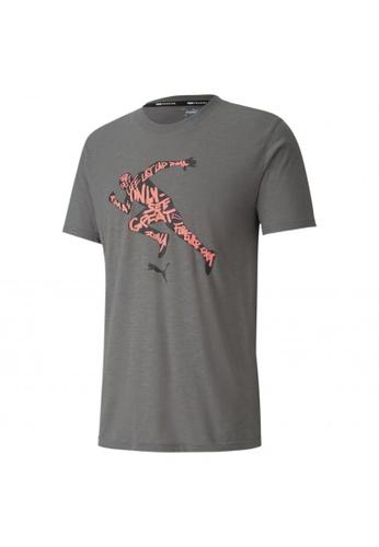PUMA grey Performance Graphic Short Sleeve Men's Training Tee 5E7CFAA26AD85EGS_1