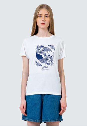 COLORBOX white Gemini round neck t-shirt 7B71DAA77092FFGS_1