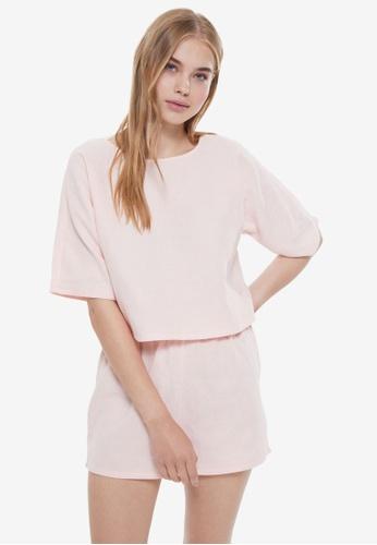 Trendyol pink Woven Pyjama Set F6FC4AADA8655DGS_1