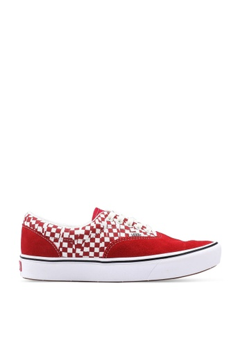 VANS red ComfyCush Era Tear Check Sneakers 3B5CFSH872714EGS_1