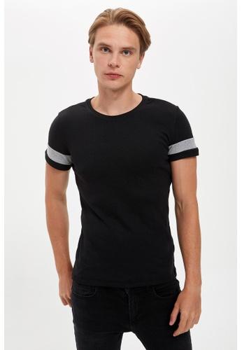 DeFacto black Short Sleeve Round Neck Basic T-Shirt 32CB1AA8F3EFE2GS_1
