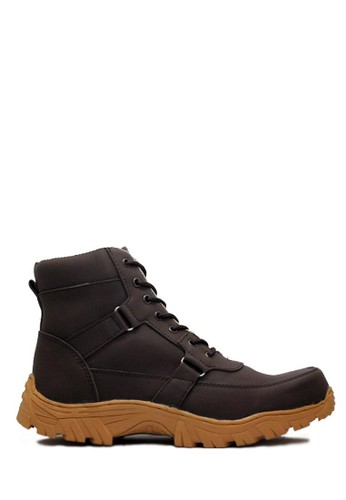 Cut Engineer brown Cut Engineer Safety Boots Rider Iron Leather Drak Brown CU226SH60SQDID_1