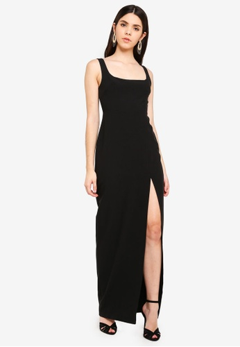 b0f1099861 Shop Vesper Vesper Zada Square Neck Maxi Dress Online on ZALORA ...