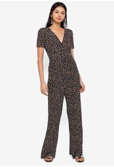 98a82e50354 Floral Print Jersey Jumpsuit F2593AA655E2FAGS 1
