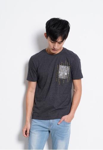 Hi Style grey Graphic Short Sleeve T-Shirt 7E5B8AAC7194D3GS_1