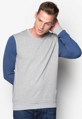 拼色羅紋長袖衫,esprit台灣 服飾, 服飾