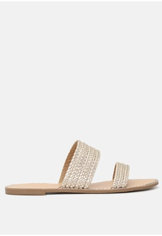 bfd133aa23e London Rag gold Flat Sandal with Weaved Straps D3BA6SH46E9A39GS 1