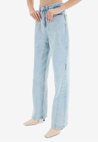 Trendyol blue High Waist Wide Leg Jeans AE1F9AA3A716DDGS_1