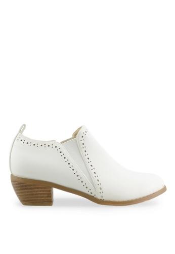 Footspot white FOOTSPOT - Minimal Elastic Oxford Shoes FO296SH2VMA2HK_1