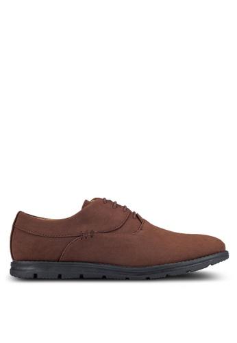 UniqTee brown Plain Toe Oxford Shoes UN097SH0RFVFMY_1
