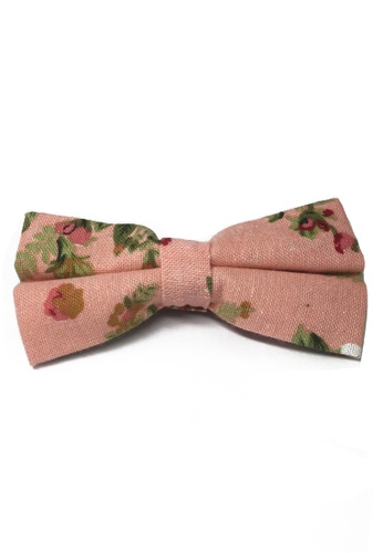 Splice Cufflinks pink Blossom Series Floral Design Baby Pink Cotton Pre-Tied Bow Tie SP744AC85FISSG_1