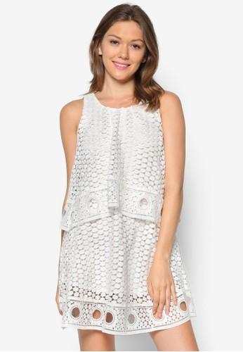 zalora 泳衣Eddy 層疊蕾絲洋裝, 服飾, 服飾