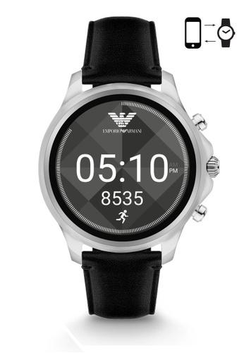 Emporio Armani black Armani Alberto Black Smart Watch ART5003 AR024AC0S03NMY_1
