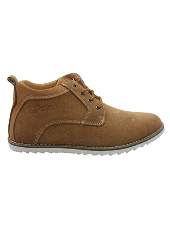midzone brown Leather Casual Lace Up MI949SH51YNSMY_1