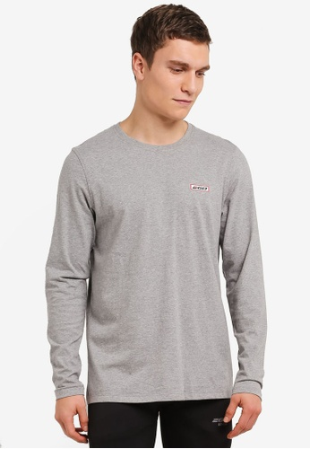 2GO grey Full Sleeve Round Neck T-Shirt 2G729AA0S5YZMY_1