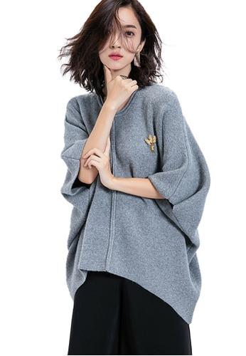 Sunnydaysweety grey Simple Loose Knit Shirt A11093GY 6FD50AA03E1AE8GS_1