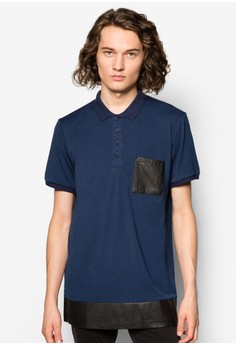 Elongated Mesh Polo