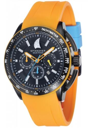 Spinnaker TRANSAT SP-5036-02 Men's Orange Integrated Silicon Strap Watch