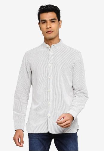 Selected Homme blue Milton Slim Long Sleeve Shirt 40F73AA22EF8F4GS_1
