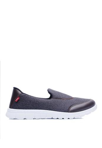 MIT。混色織布。360度高彈力。懶人休閒鞋-09319-咖色, 鞋,esprit outlet 台灣 休閒鞋