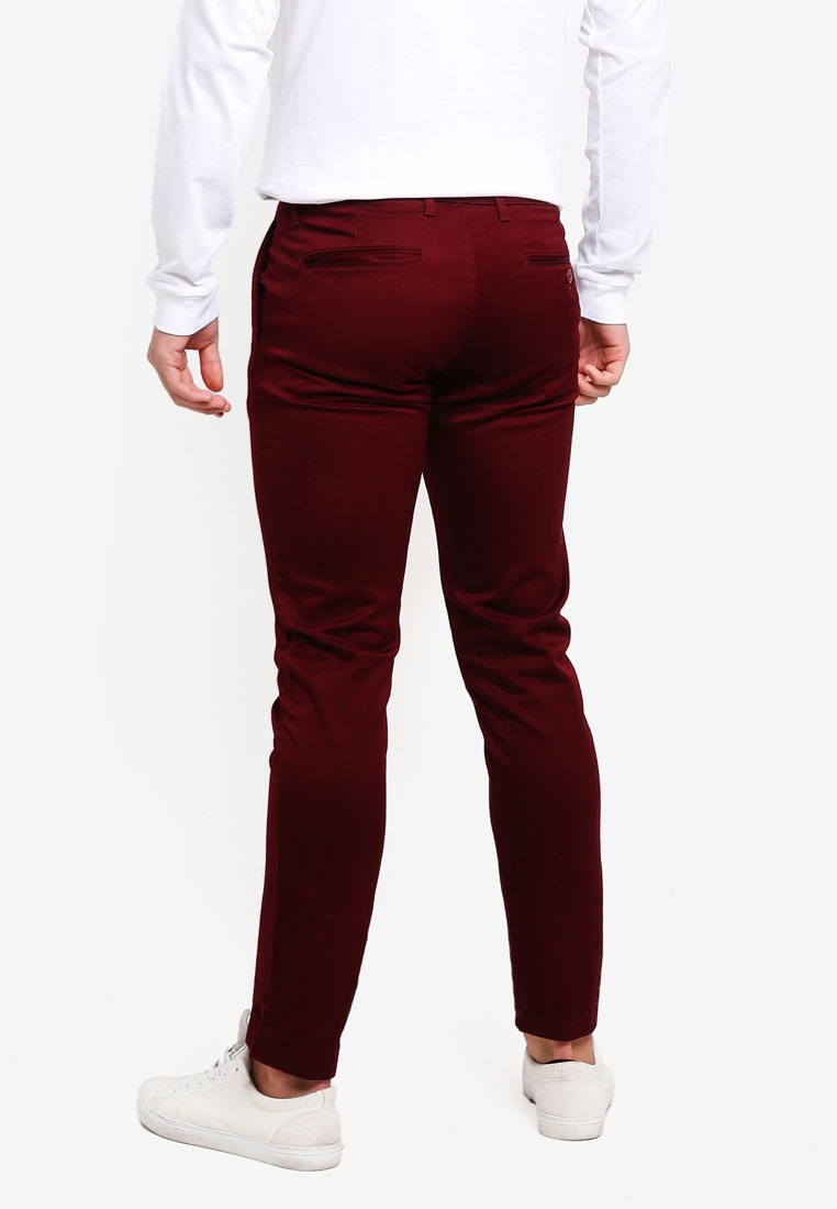 J Crew Pants Stretch Classic Burgundy 484 Chino RPvqTwxO