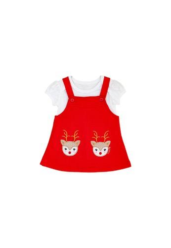 Torio red Torio Christmas Jumper Set - Baju Anak Perempuan Pakaian Anak Perempuan Jumper Anak 74D07KAC82CFEAGS_1