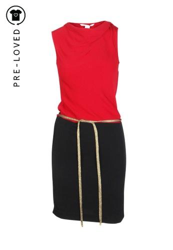 Diane Von Furstenberg red Pre-Loved diane von furstenberg Cut Sleeve Dress. AE3F1AA65D6313GS_1