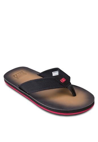 漸層夾esprit 品牌腳平底涼鞋, 鞋, 鞋