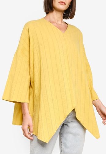 ZALIA BASICS 黃色 Asymmetrical Cotton Top FD225AA9201246GS_1