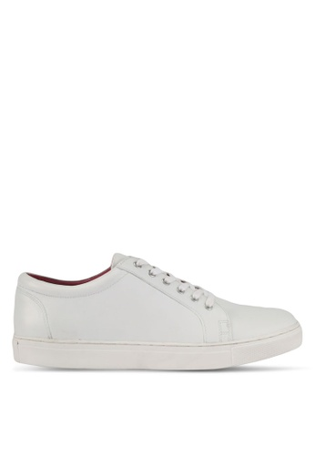 ACUTO white Leather Sneakers AC283SH0SL6OMY_1