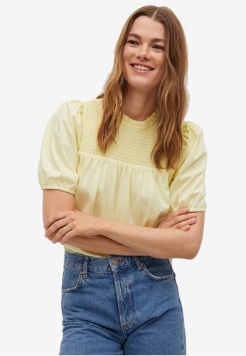 Mango yellow Lace Cotton Blouse 0D049AA94F39D3GS_1