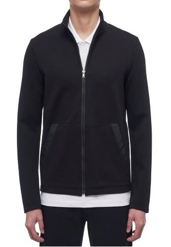 CK CALVIN KLEIN black Compact Milano Long-Sleeved Jacket 6AED5AA51BA2DDGS_1