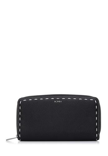 BONIA black Black Bianca Zipper Wallet BO777AC46CMRMY_1