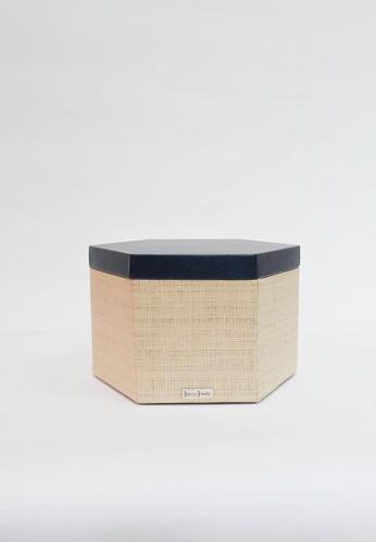 Grassroots blue Hexagonal Box (Medium) 2904AHLC7564DBGS_1