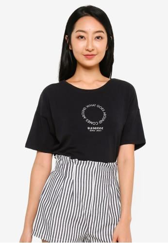 UniqTee black What Goes Around T-Shirt in Black E8136AA4B96720GS_1