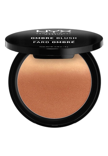 NYX Professional Makeup brown NYX Professional Makeup Ombre Blush - NUDE TO ME F7929BE993F140GS_1