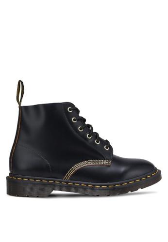 Dr. Martens black Archive Originals 6 Eyelet Boots DR086SH0RJHTMY_1