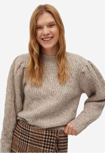 Mango grey Knitted Braided Sweater A0A72AA5B0E486GS_1