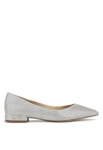 Betts silver Sundance Diamante Pointed Toe Flats D61D5SH453EAA1GS_1