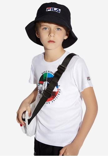 FILA white FILA KIDS FILA x STAPLE Theme Printed T-shirt 8-15yrs A5D7AKAF21BA82GS_1