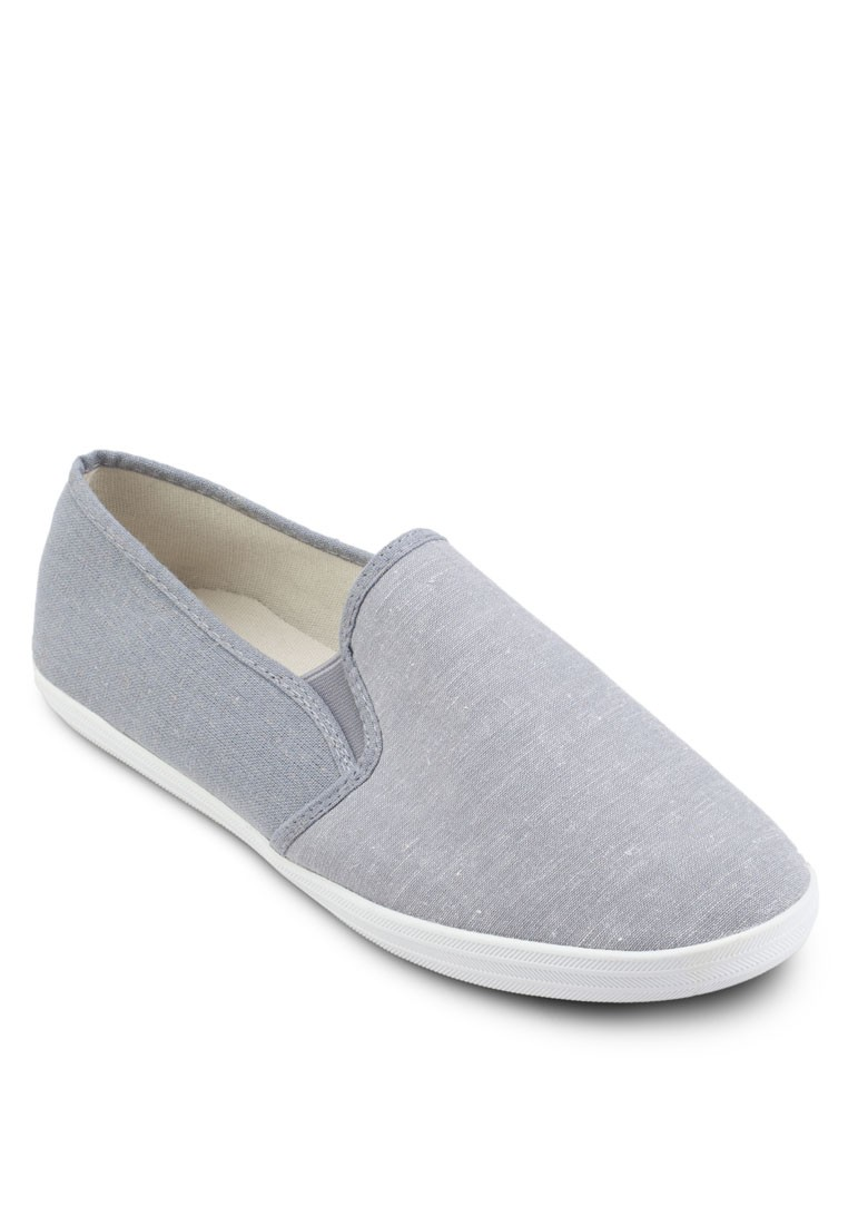 Mix Material Linen Slip Ons