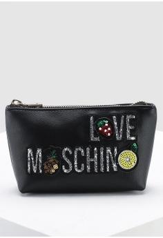 003adf7b9e73 Love Moschino black Smooth Grain Pouch 4433FAC3446154GS 1