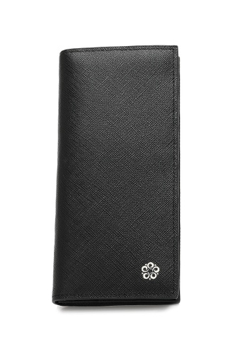Wild Channel black Men's Genuine Leather RFID Blocking Bi Fold Long Wallet D31C9AC334A20DGS_1