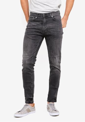 Burton Menswear London 灰色 修身牛仔褲 C2642AAE605760GS_1
